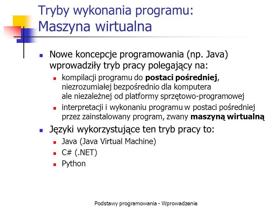 Tryby wykonania programu: Maszyna wirtualna