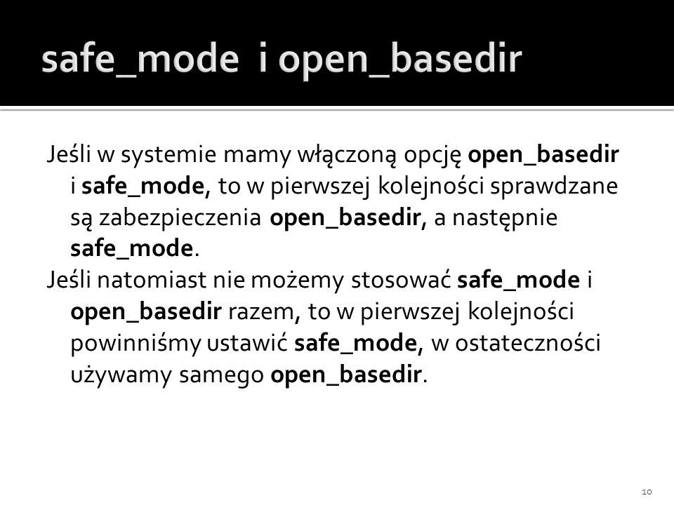 safe_mode i open_basedir