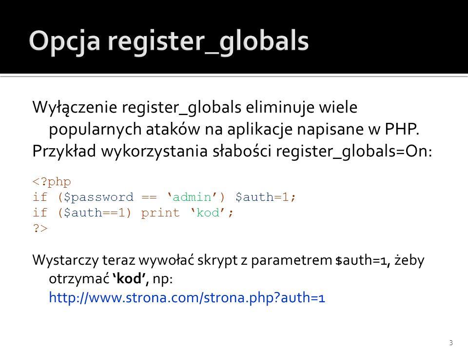 Opcja register_globals