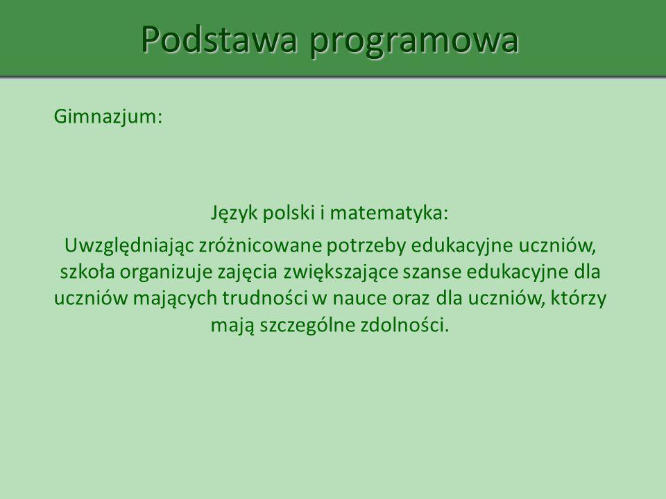 Język polski i matematyka: