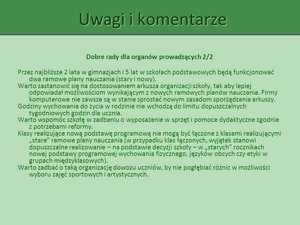 Dobre rady dla organów prowadzących 2/2
