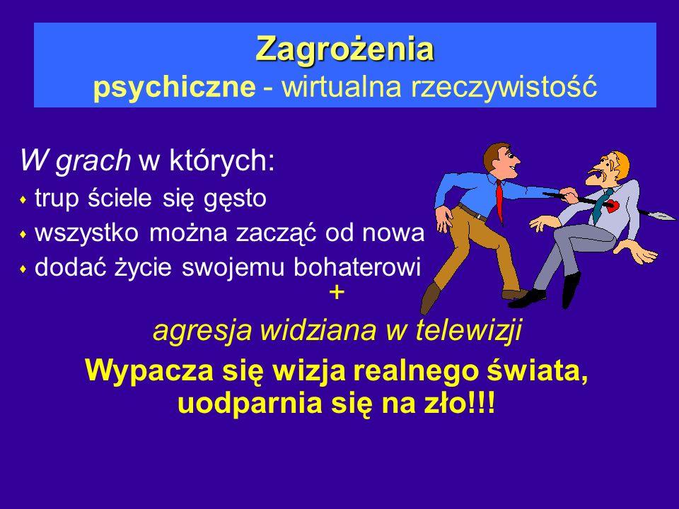 Zagrożenia psychiczne - wirtualna rzeczywistość