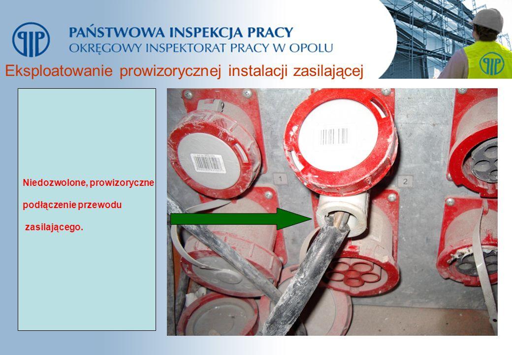 Eksploatowanie prowizorycznej instalacji zasilającej