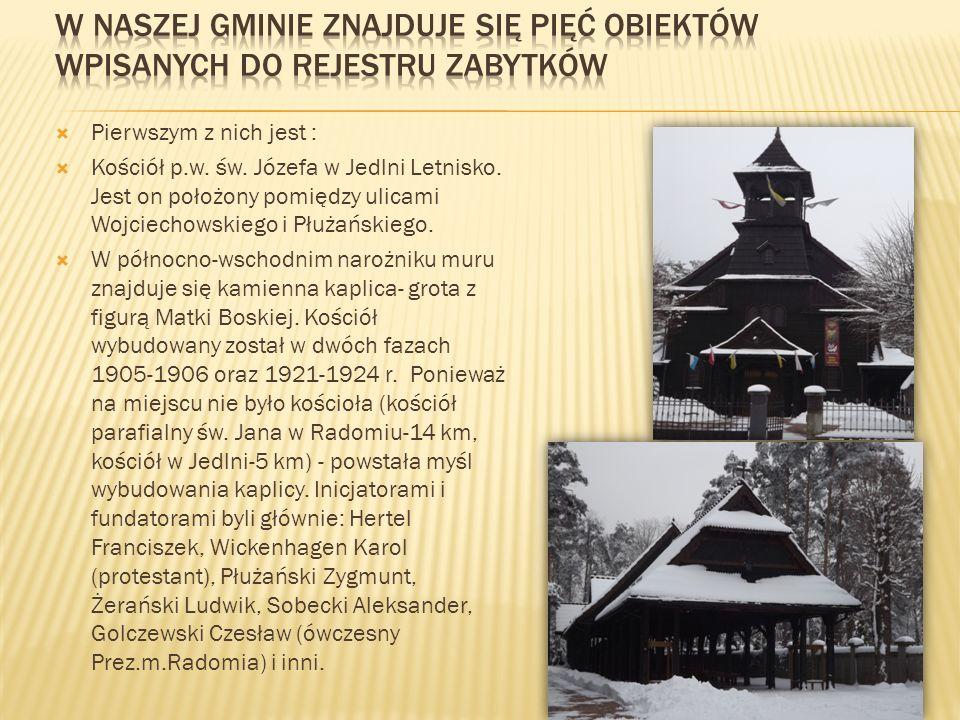 W Naszej gminie znajduje się pięć obiektów wpisanych do rejestru zabytków