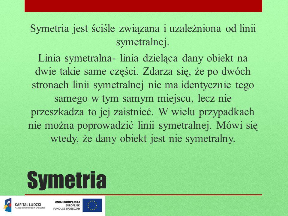 Symetria jest ściśle związana i uzależniona od linii symetralnej