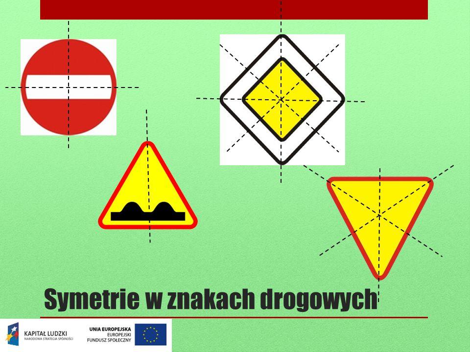 Symetrie w znakach drogowych