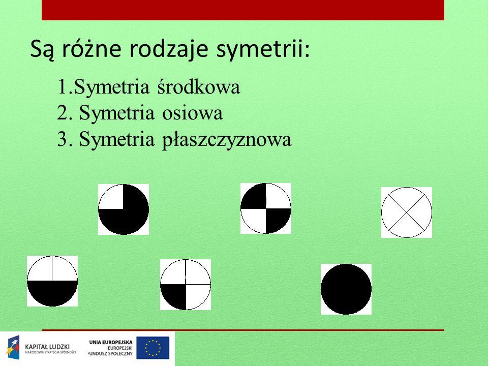 Są różne rodzaje symetrii: