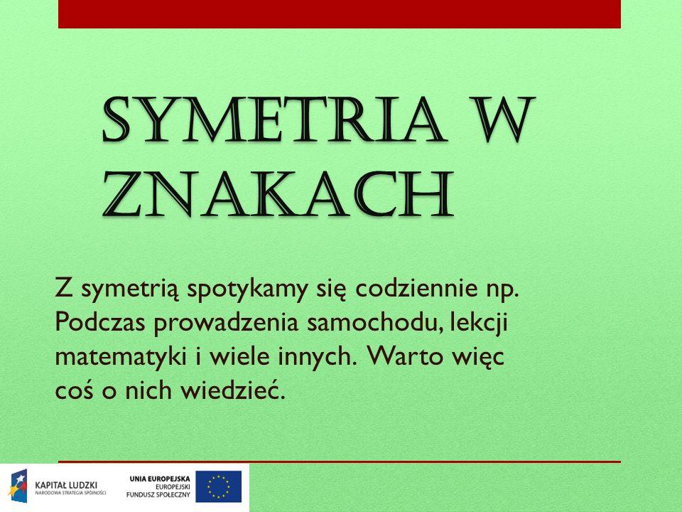 Symetria w znakach