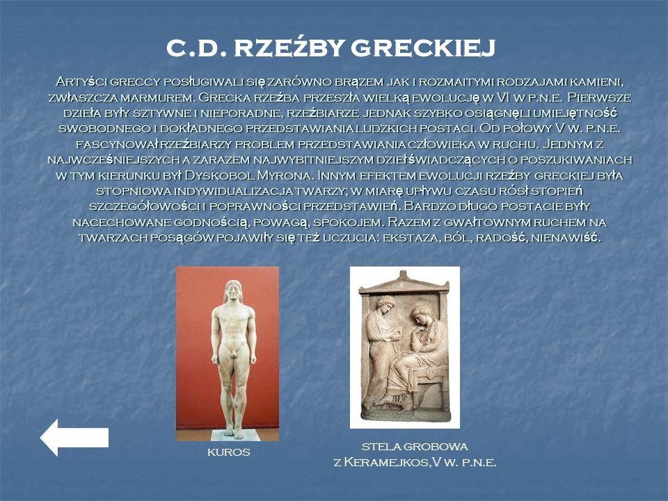 c.d. rzeźby greckiej