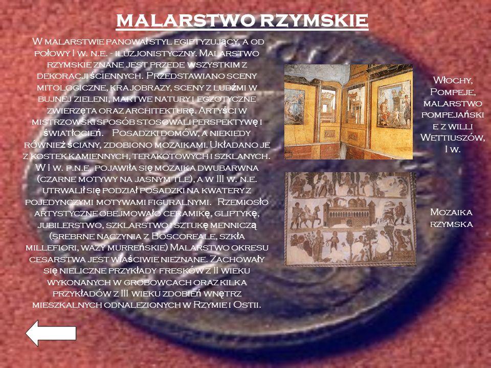 Włochy, Pompeje, malarstwo pompejańskie z willi Wettiuszów, I w.