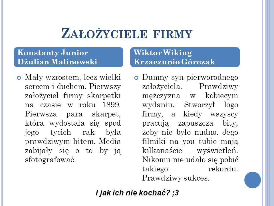 Założyciele firmy Konstanty Junior Dżulian Malinowski