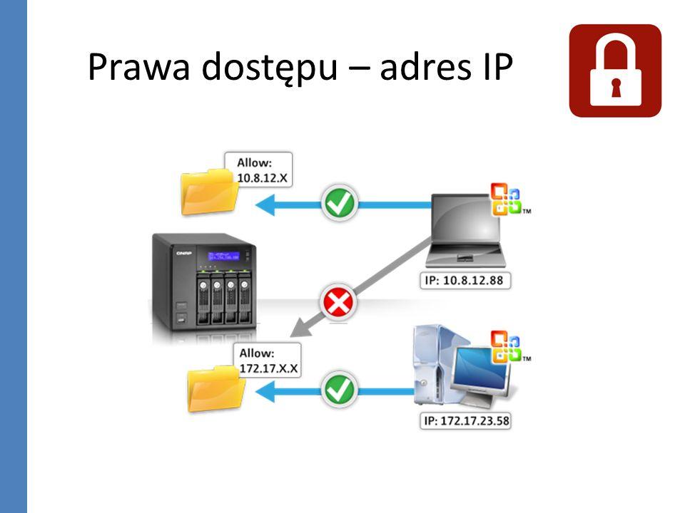 Prawa dostępu – adres IP