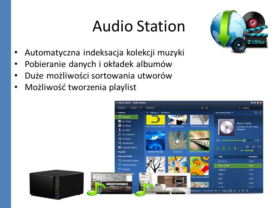 Audio Station Automatyczna indeksacja kolekcji muzyki