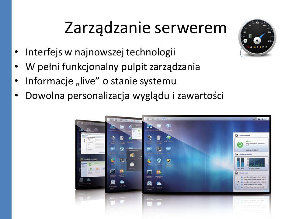 Zarządzanie serwerem Interfejs w najnowszej technologii