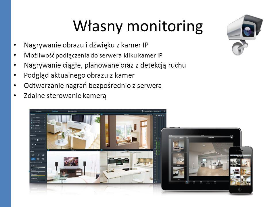 Własny monitoring Nagrywanie obrazu i dźwięku z kamer IP