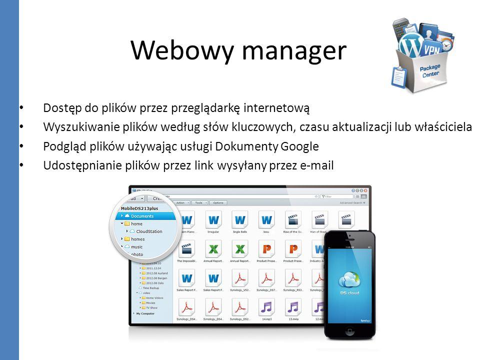 Webowy manager Dostęp do plików przez przeglądarkę internetową
