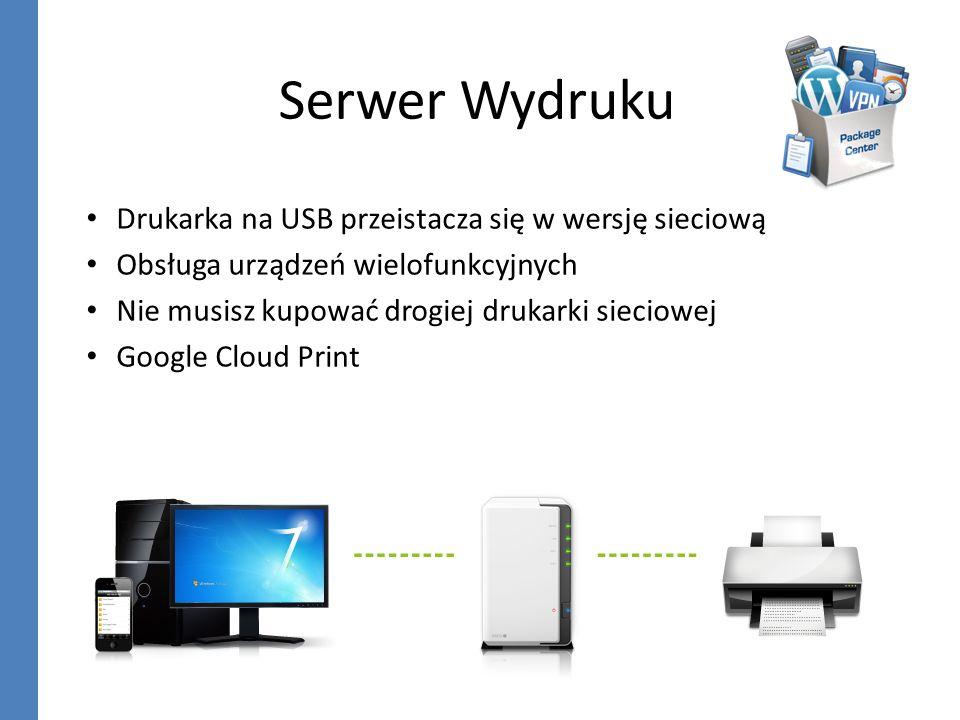 Serwer Wydruku Drukarka na USB przeistacza się w wersję sieciową