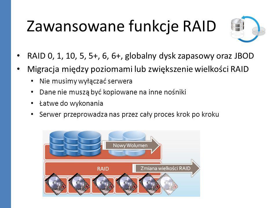 Zawansowane funkcje RAID