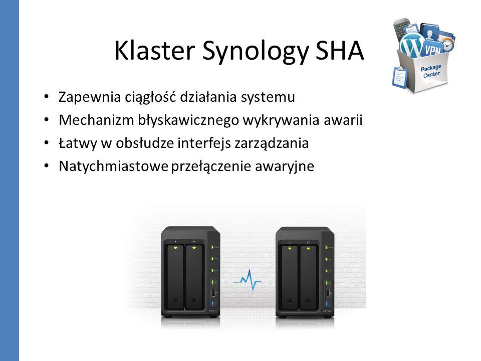 Klaster Synology SHA Zapewnia ciągłość działania systemu