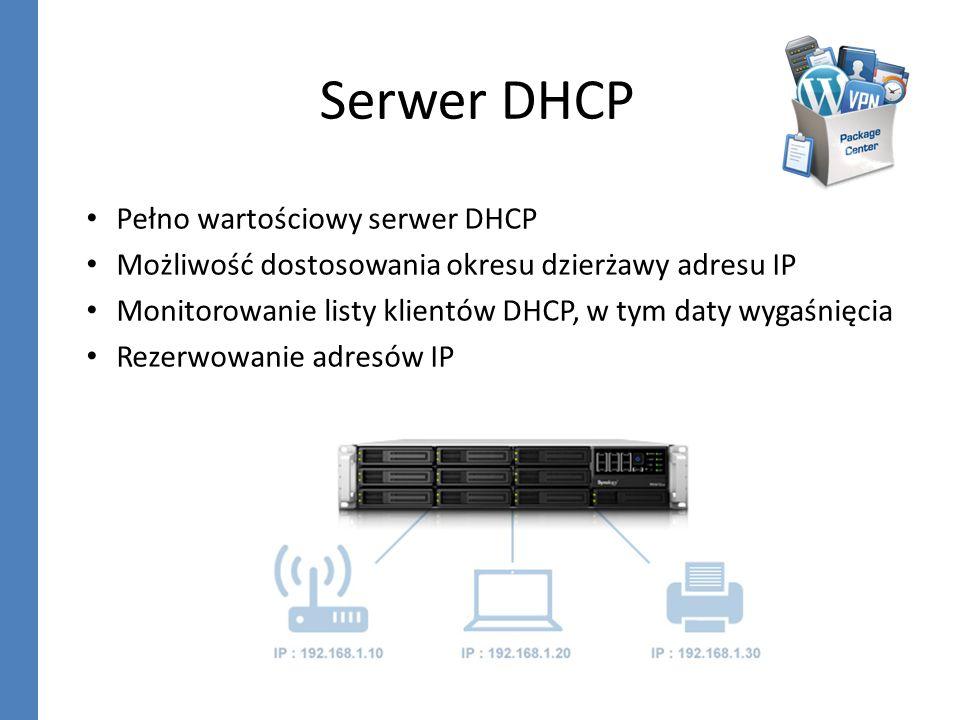 Serwer DHCP Pełno wartościowy serwer DHCP