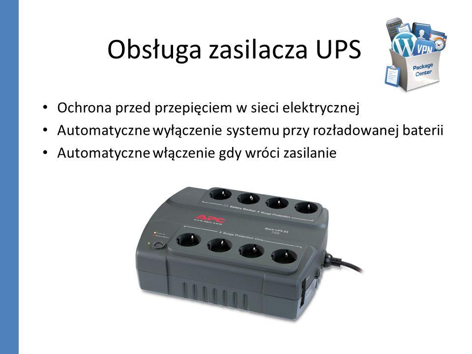 Obsługa zasilacza UPS Ochrona przed przepięciem w sieci elektrycznej