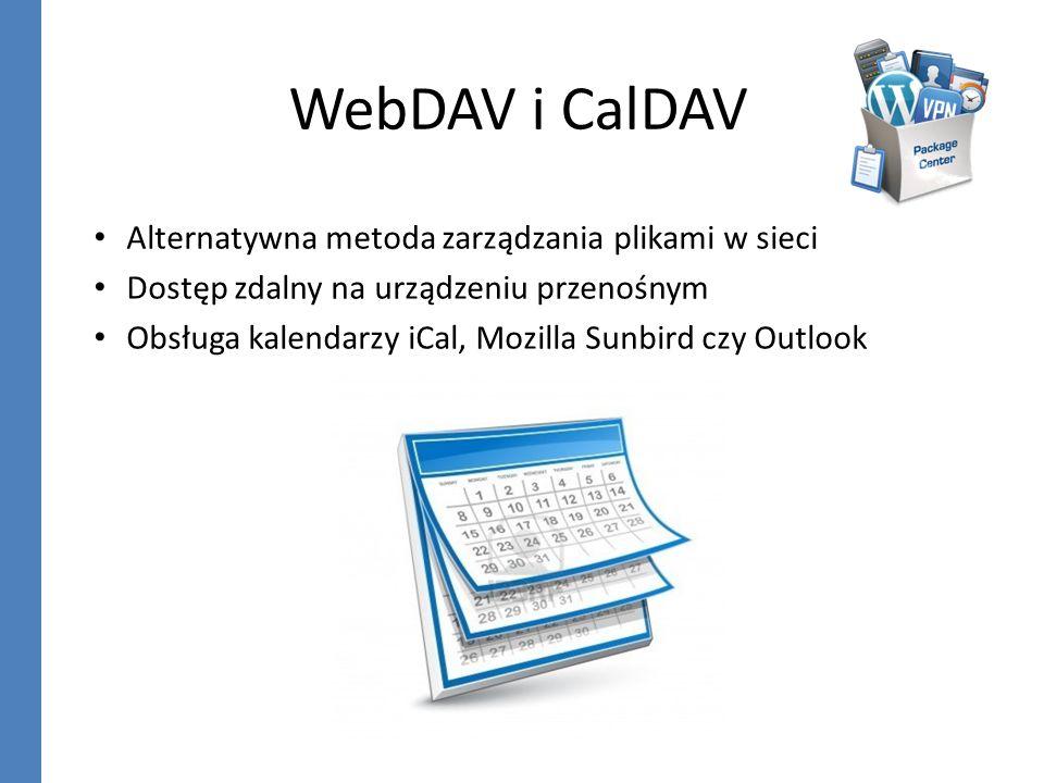 WebDAV i CalDAV Alternatywna metoda zarządzania plikami w sieci