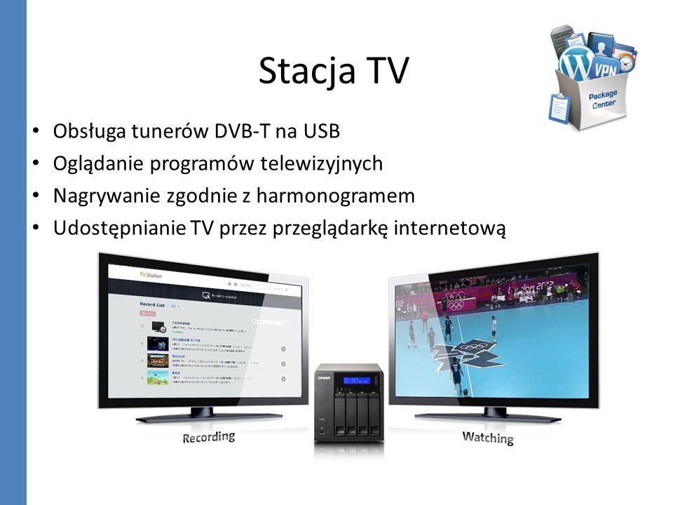Stacja TV Obsługa tunerów DVB-T na USB