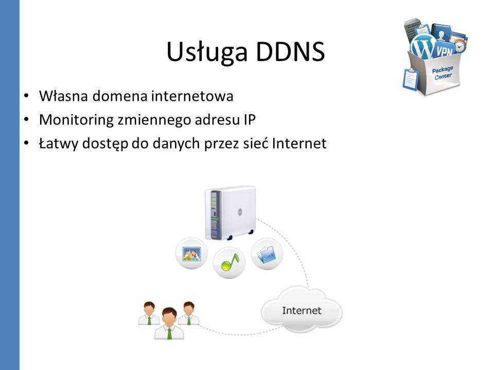 Usługa DDNS Własna domena internetowa Monitoring zmiennego adresu IP
