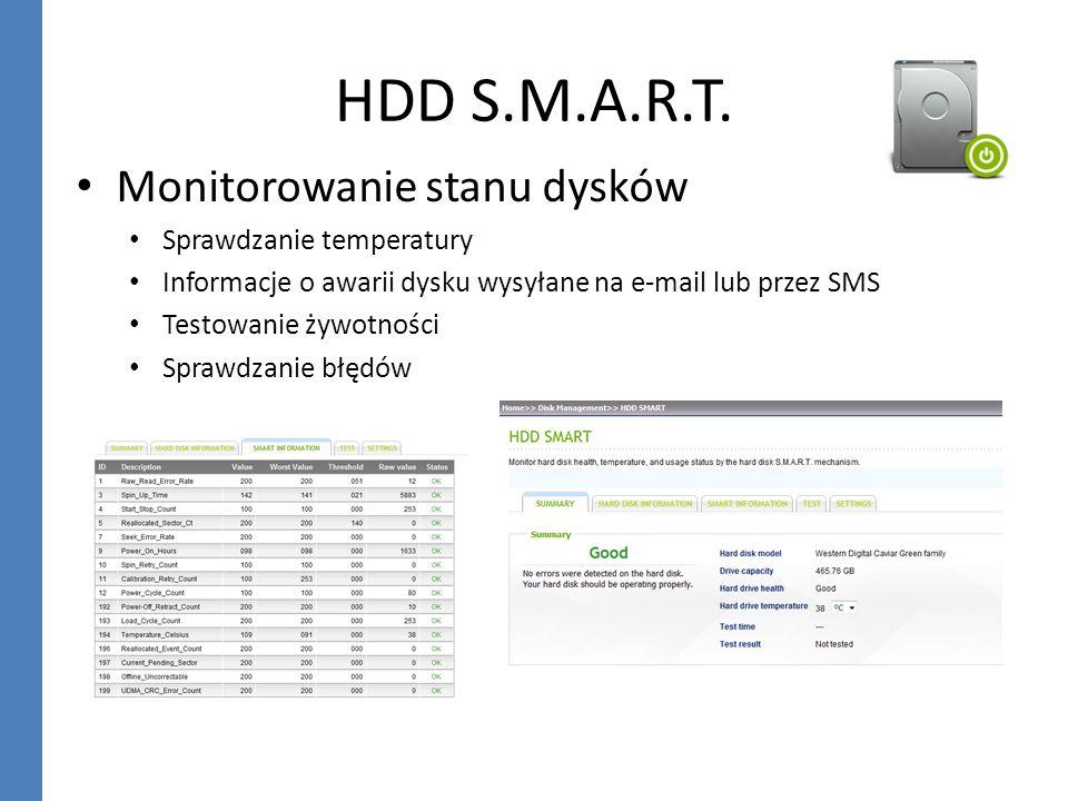 HDD S.M.A.R.T. Monitorowanie stanu dysków Sprawdzanie temperatury