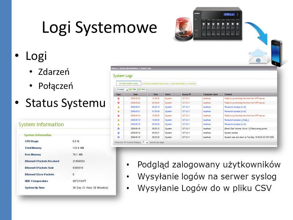 Logi Systemowe Logi Status Systemu Zdarzeń Połączeń