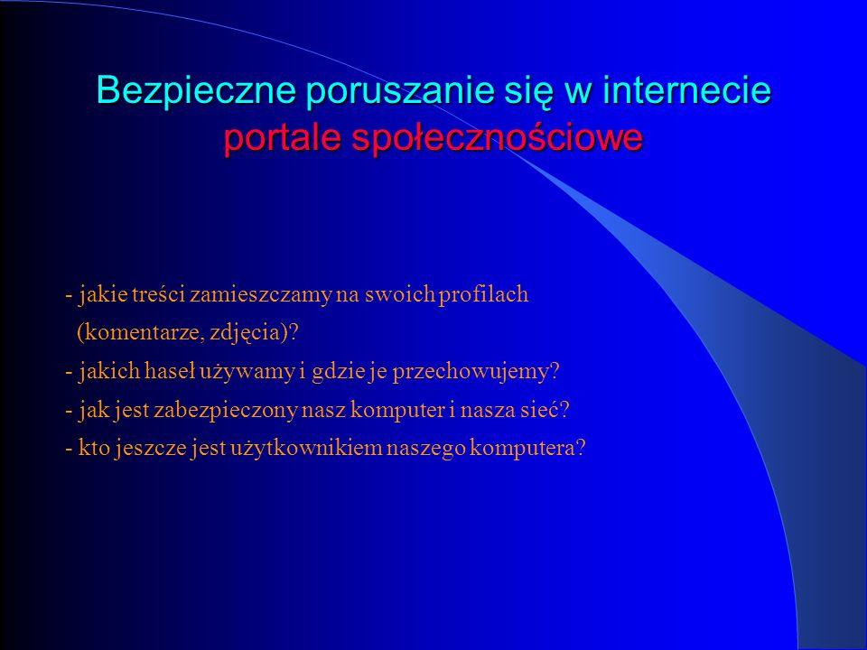 Bezpieczne poruszanie się w internecie portale społecznościowe