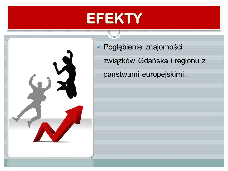 EFEKTY Pogłębienie znajomości związków Gdańska i regionu z państwami europejskimi.