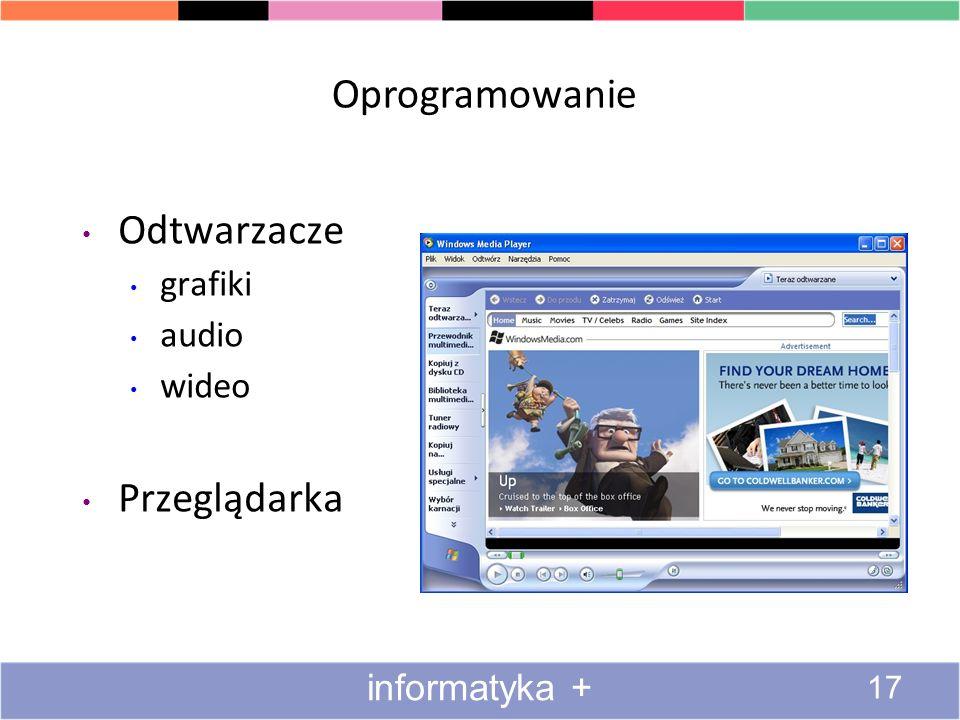 Oprogramowanie Odtwarzacze Przeglądarka grafiki audio wideo