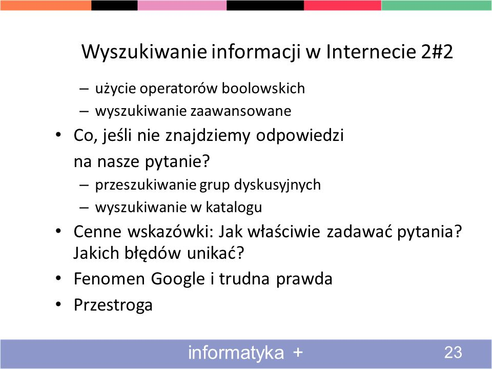 Wyszukiwanie informacji w Internecie 2#2