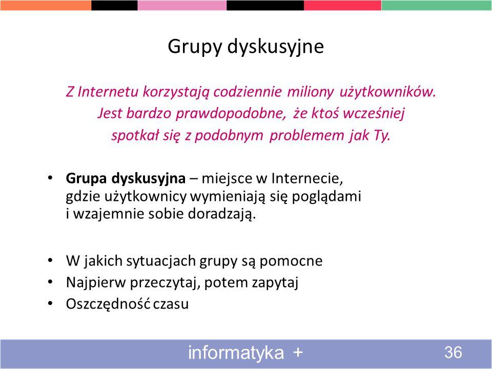 Grupy dyskusyjne informatyka +