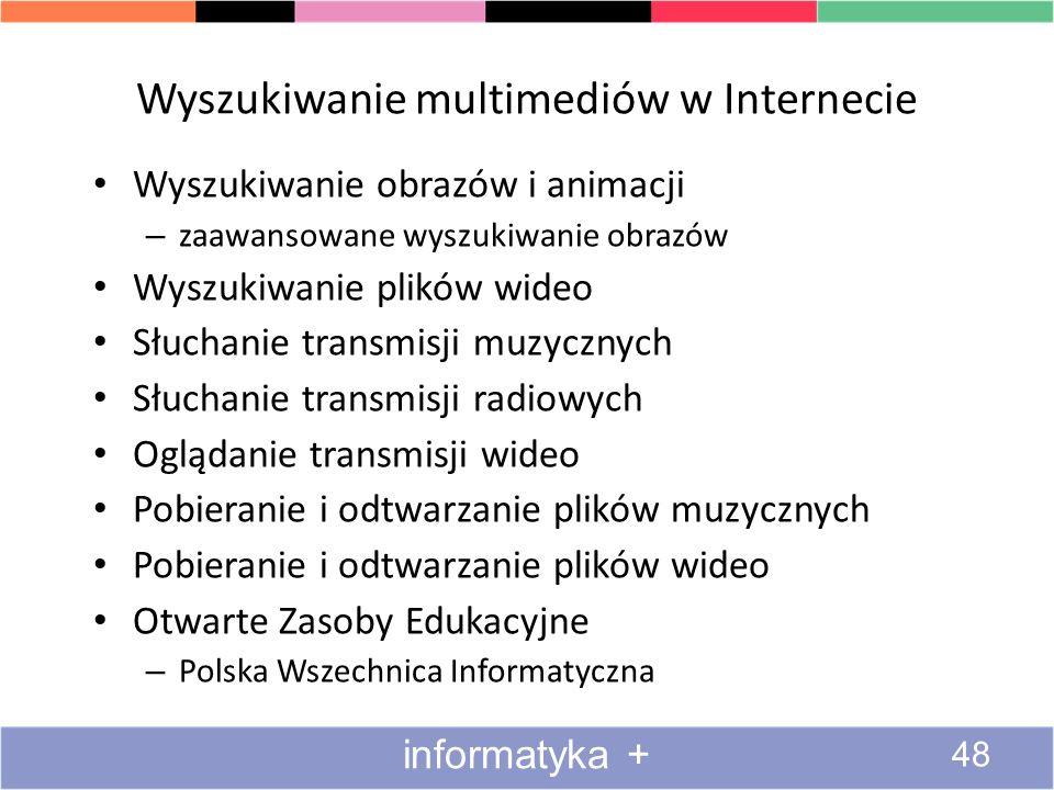 Wyszukiwanie multimediów w Internecie