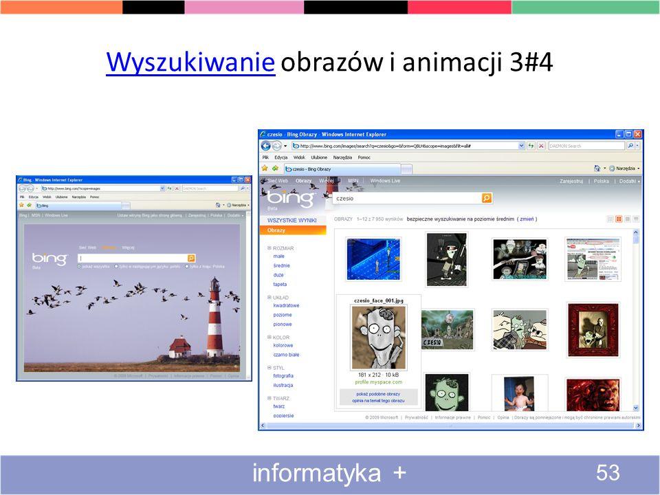 Wyszukiwanie obrazów i animacji 3#4