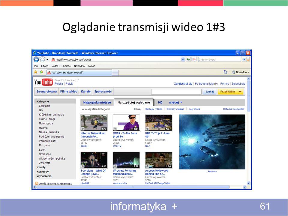 Oglądanie transmisji wideo 1#3