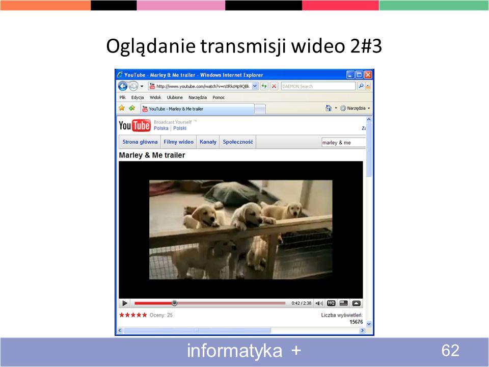 Oglądanie transmisji wideo 2#3