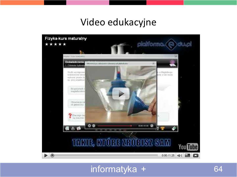 Video edukacyjne informatyka +