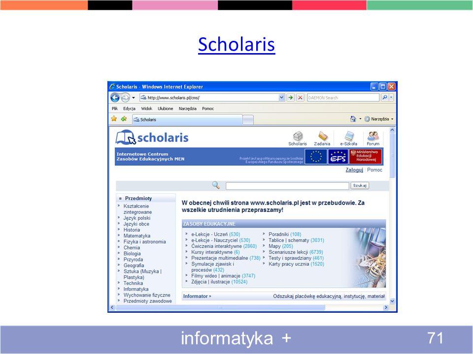 Scholaris informatyka +