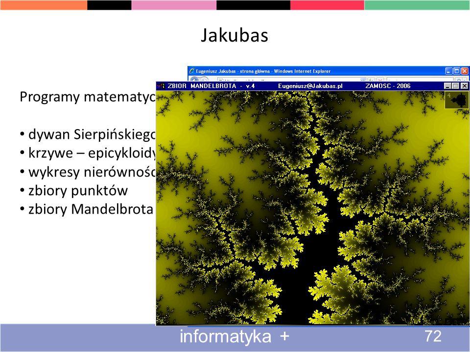 Jakubas informatyka + Programy matematyczne dywan Sierpińskiego