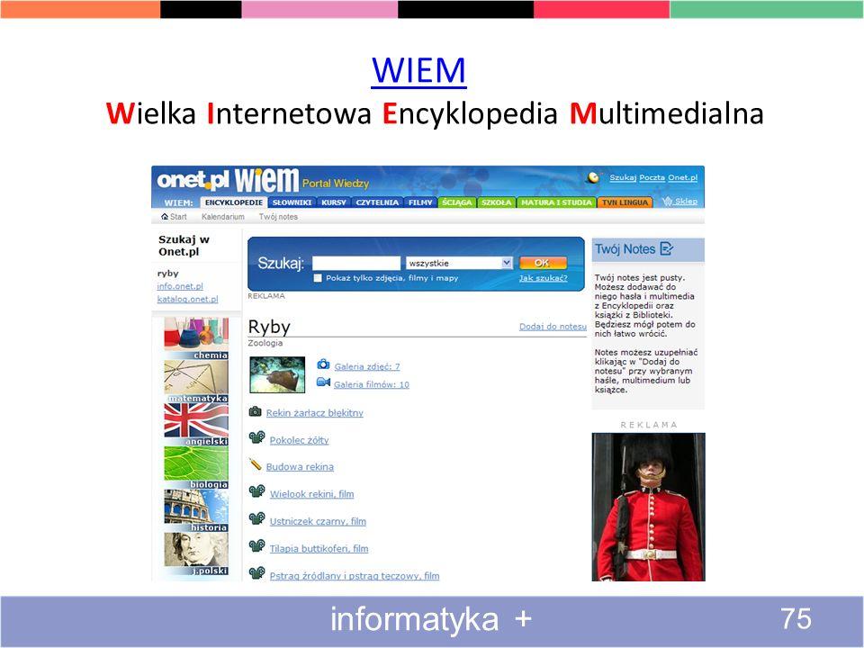 WIEM Wielka Internetowa Encyklopedia Multimedialna