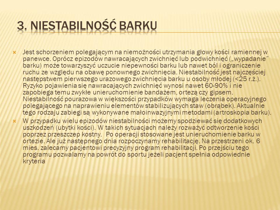 3. Niestabilność barku