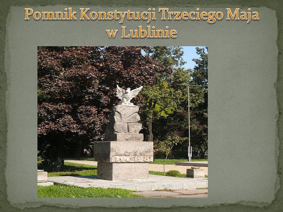 Pomnik Konstytucji Trzeciego Maja w Lublinie