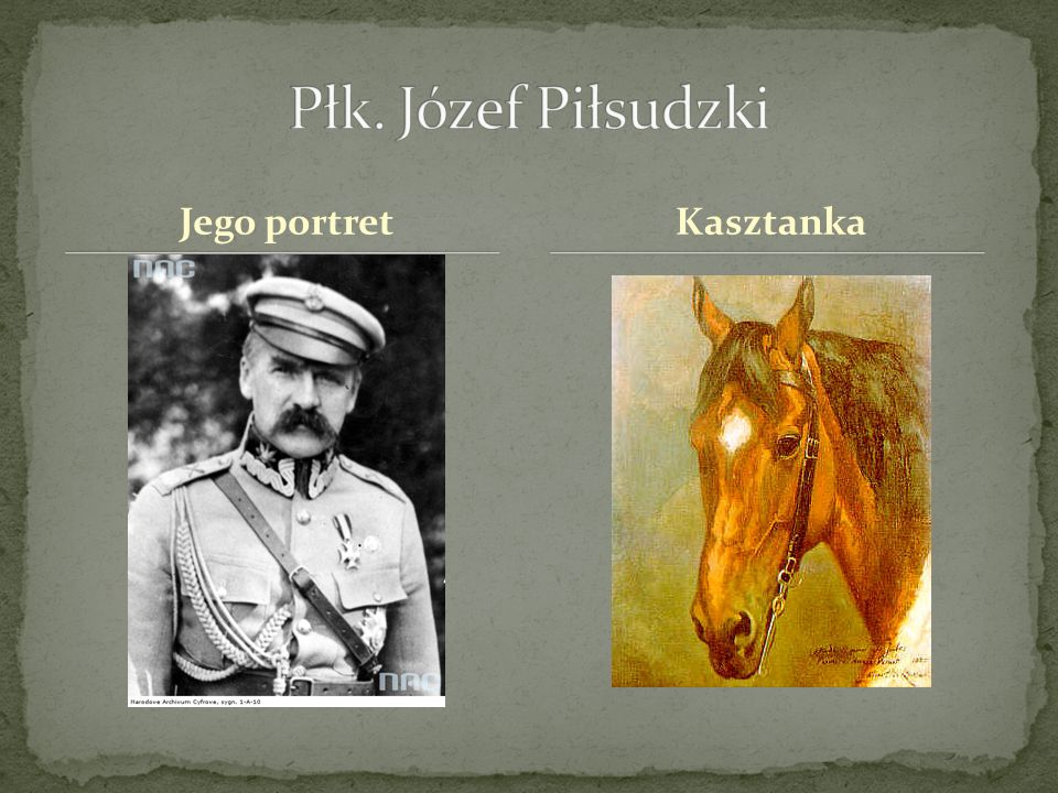 Płk. Józef Piłsudzki Jego portret Kasztanka
