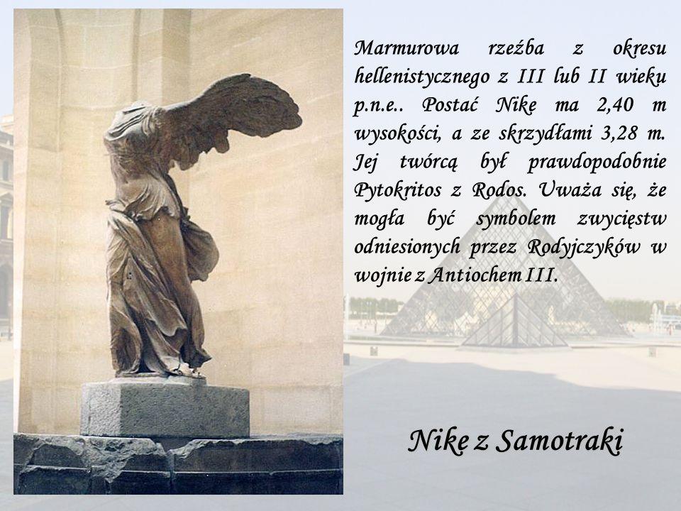 Marmurowa rzeźba z okresu hellenistycznego z III lub II wieku p. n. e