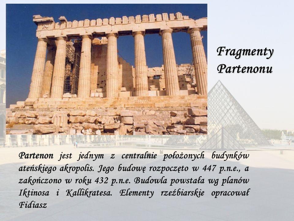 Fragmenty Partenonu.