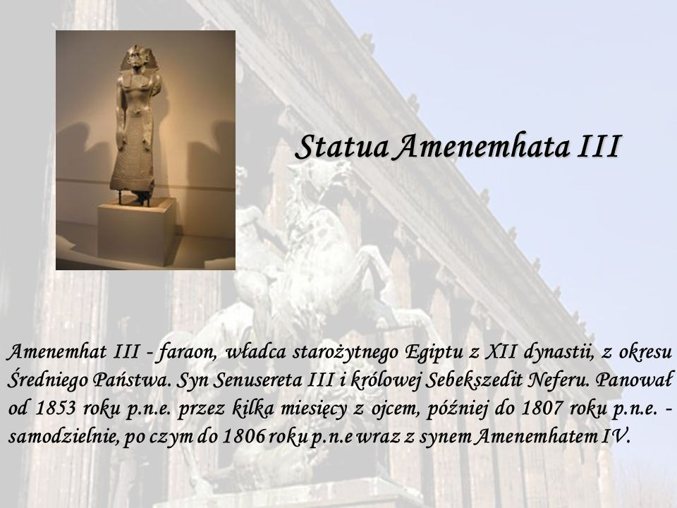 Statua Amenemhata III