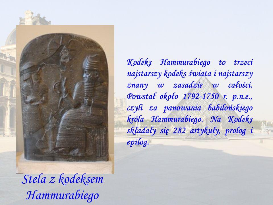 Stela z kodeksem Hammurabiego